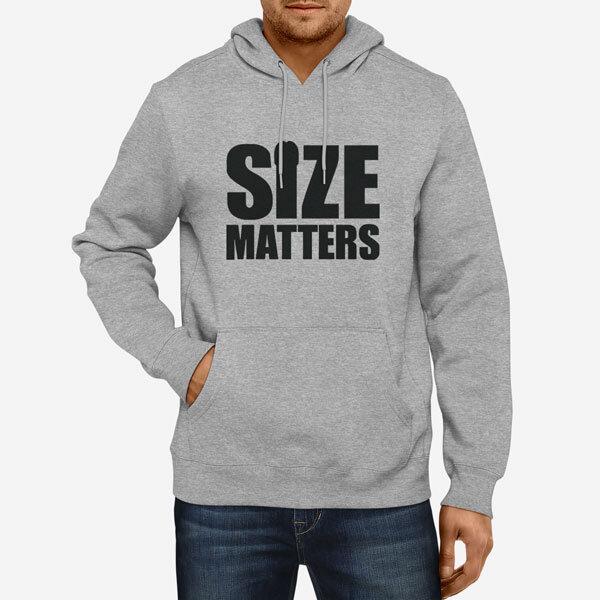 Moški pulover s kapuco Velikost