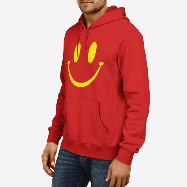 Moški pulover s kapuco Smile