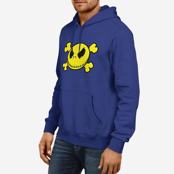 Moški pulover s kapuco Smiley lobanja