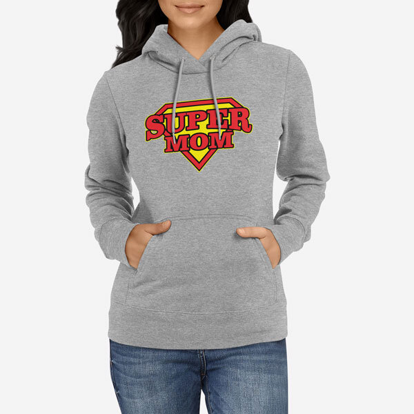 Ženski pulover s kapuco Super Mom