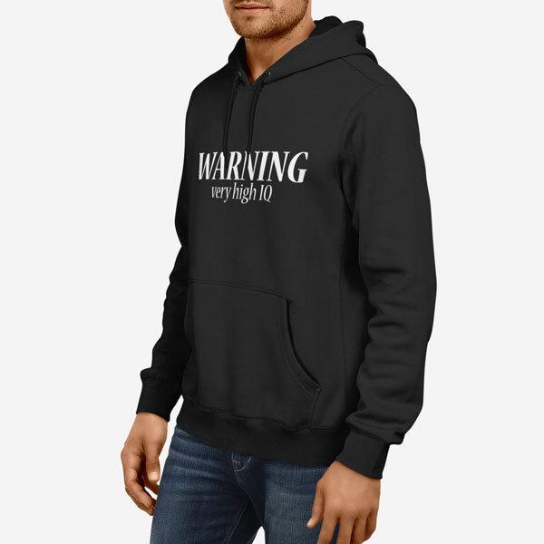 Moški pulover s kapuco Warning IQ