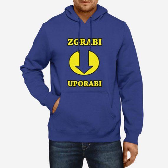 Moški pulover s kapuco Zgrabi in uporabi