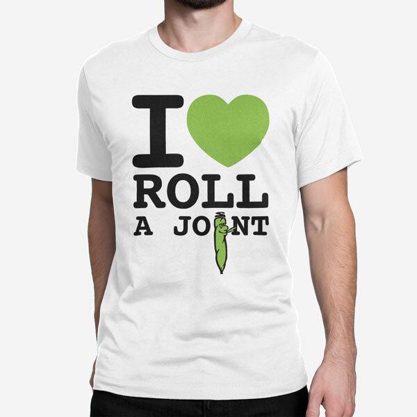 Moška kratka majica I Love Roll a Joint