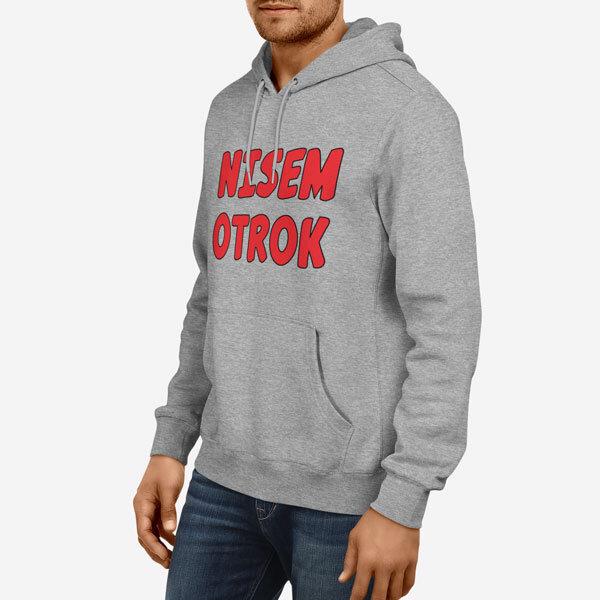 Moški pulover s kapuco Nisem otrok