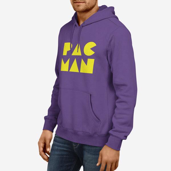 Moški pulover s kapuco Pac Man