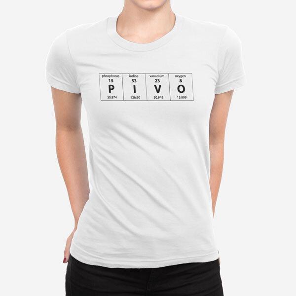 Ženska kratka majica Periodni element Pivo
