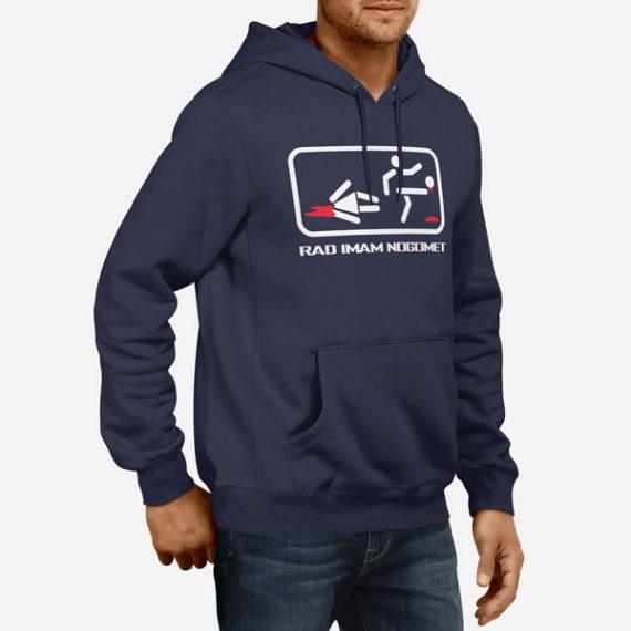 Moški pulover s kapuco Rad imam nogomet