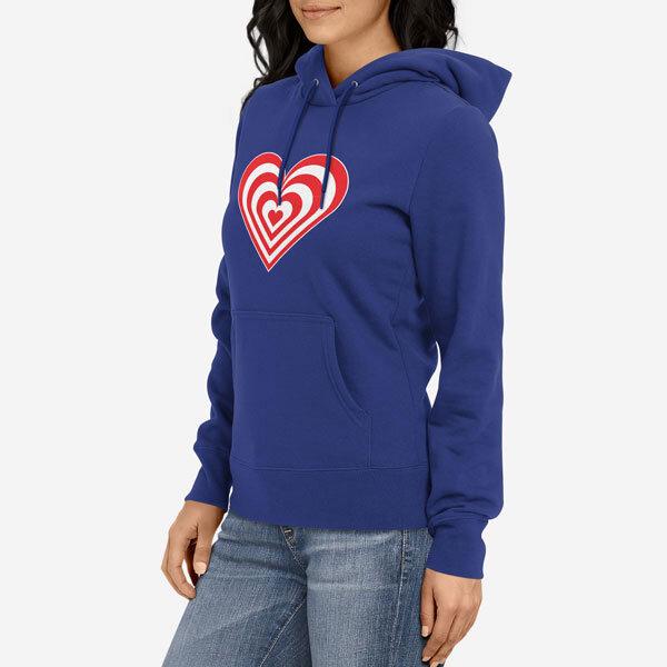 Ženski pulover s kapuco Zebra srce