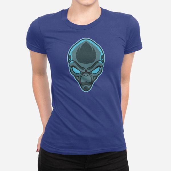 Ženska kratka majica Glava Alien