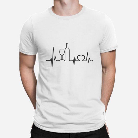 Moška kratka majica Utrip vinskega srca
