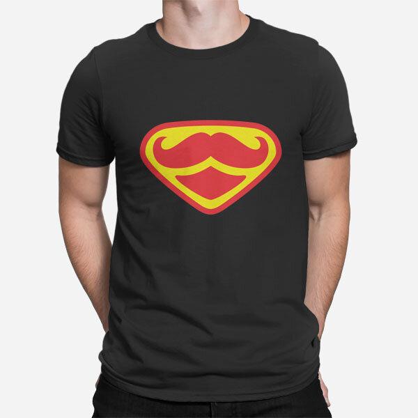 Moška kratka majica Super brki