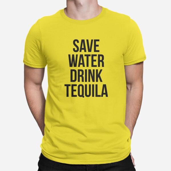 Moška kratka majica Save water drink Tequila