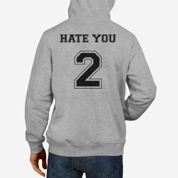 Moški pulover s kapuco Hate You