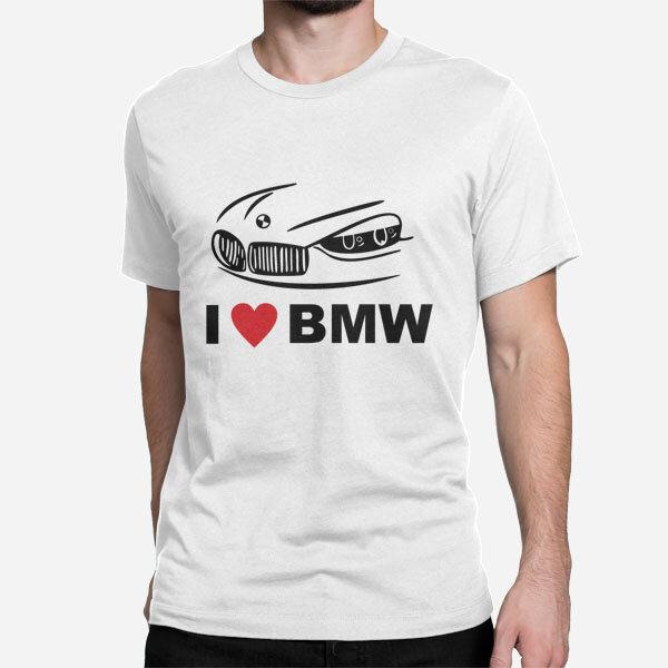 Moška kratka majica I love BMW