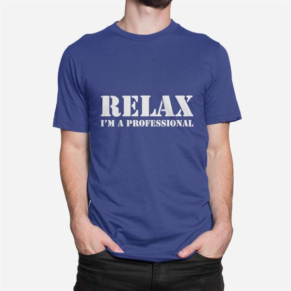 Moška majica Relax I'm Professional_bela