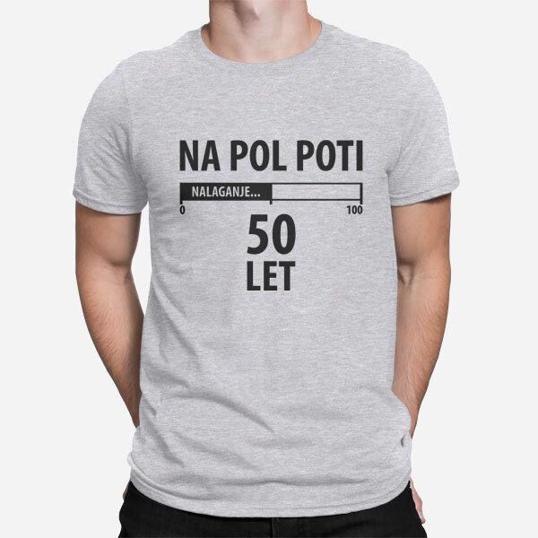 Moška kratka majica Pol poti