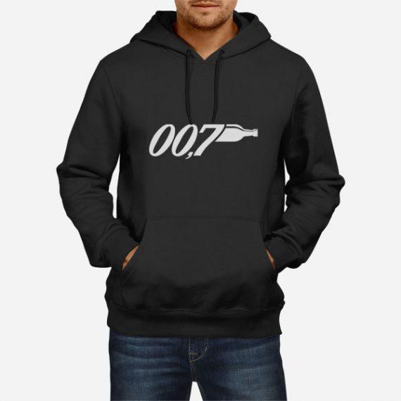 Moški pulover s kapuco 007 Promila alkohola