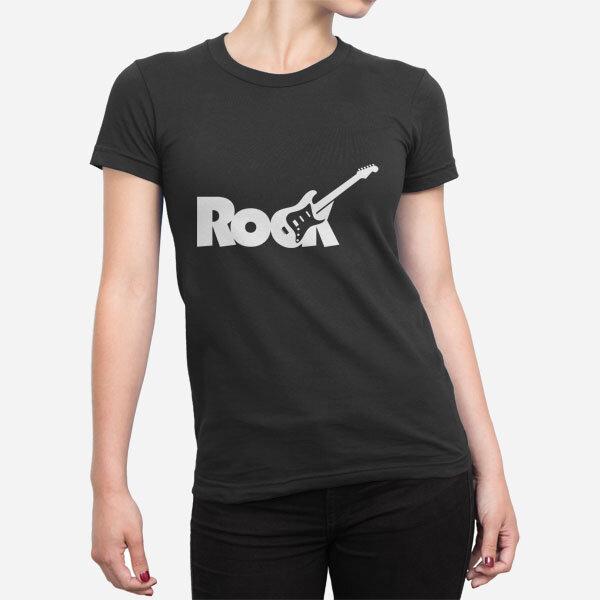 Ženska kratka majica Rock kitara