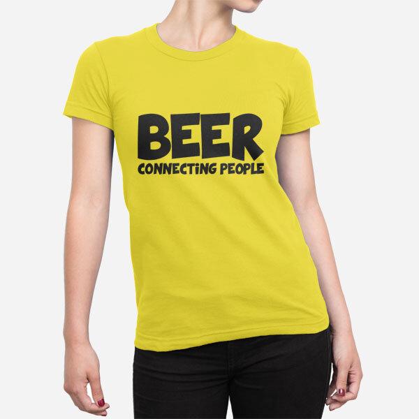 Ženska kratka majica Beer Connecting