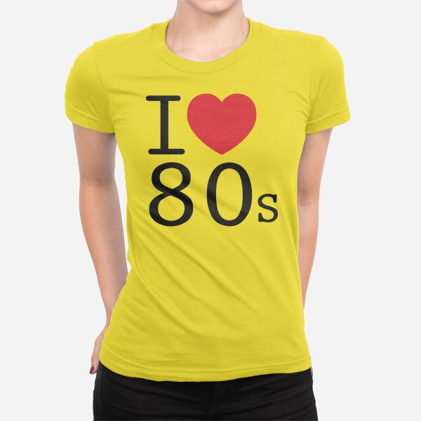 Ženska kratka majica I Love 80s