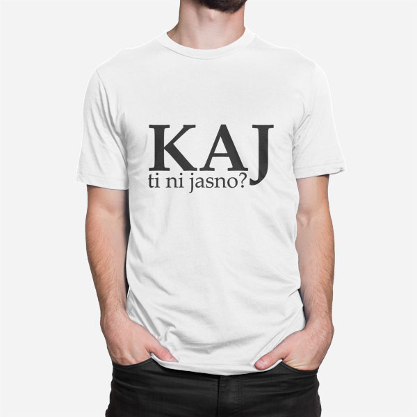 Moška kratka majica Kaj ti ni jasno