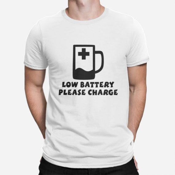 Moška kratka majica Low Battery