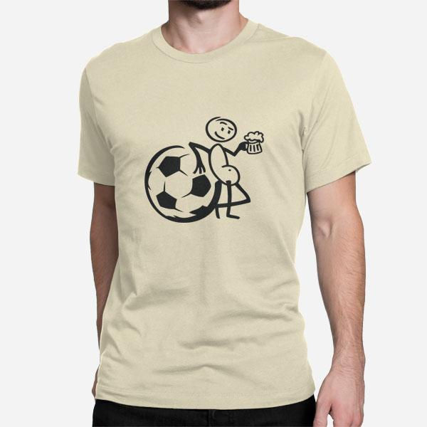 Moška kratka majica Nogomet in Pivo