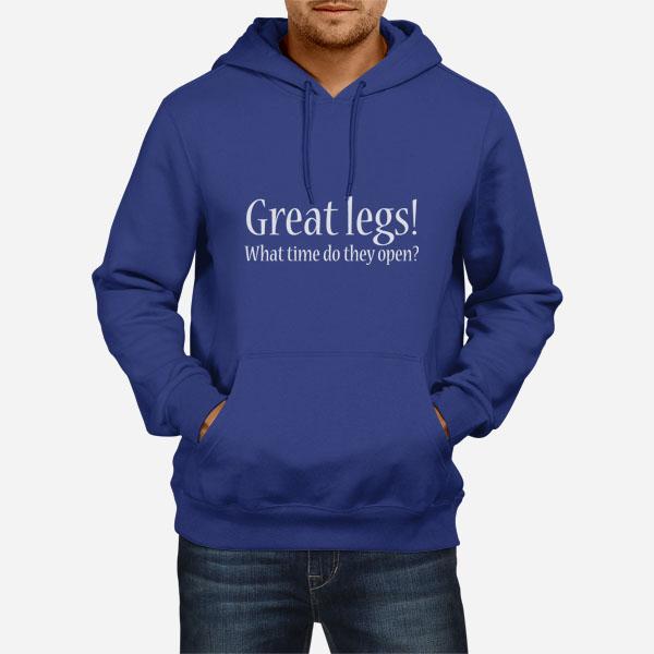 Moški pulover s kapuco Dobre noge