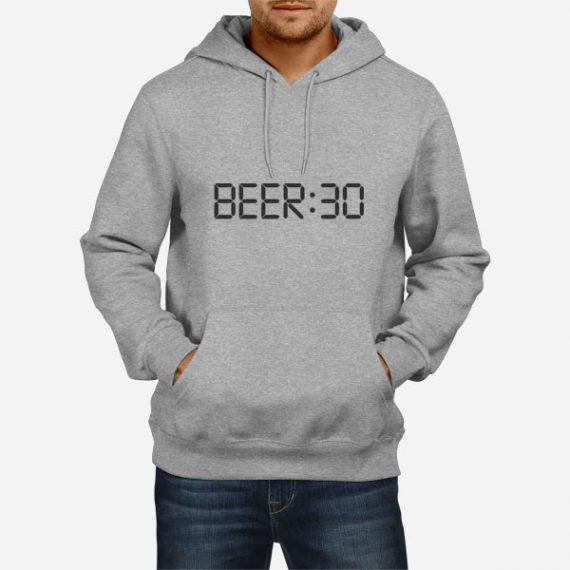 Moški pulover s kapuco Digitalna ura