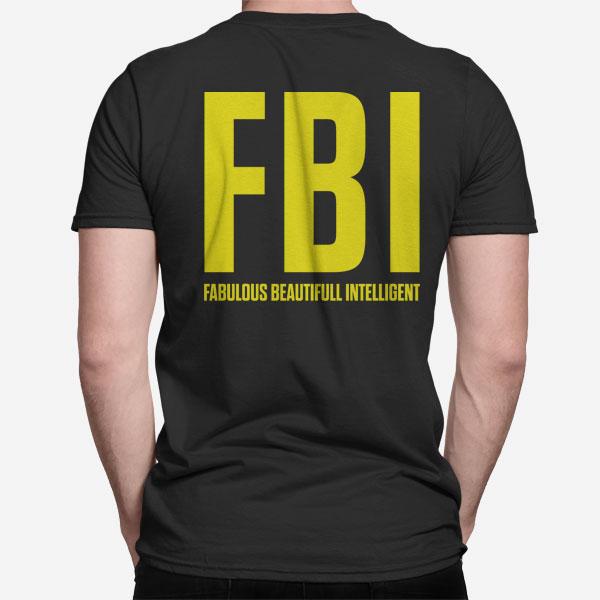 Moška kratka majica FBI fabulous