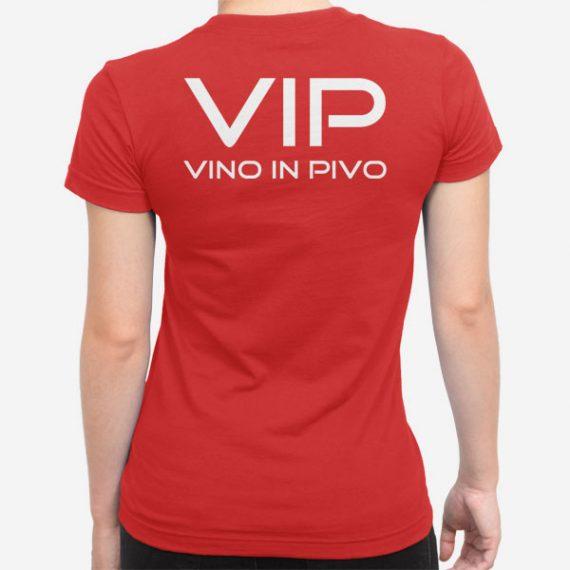 Ženska kratka majica VIP Vino in Pivo