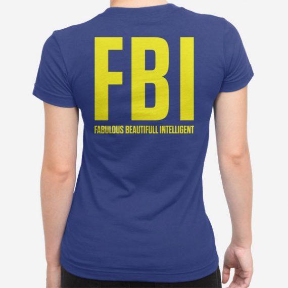Ženska kratka majica FBI fabulous
