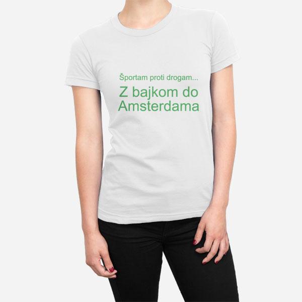 Ženska kratka majica Športam proti drogam
