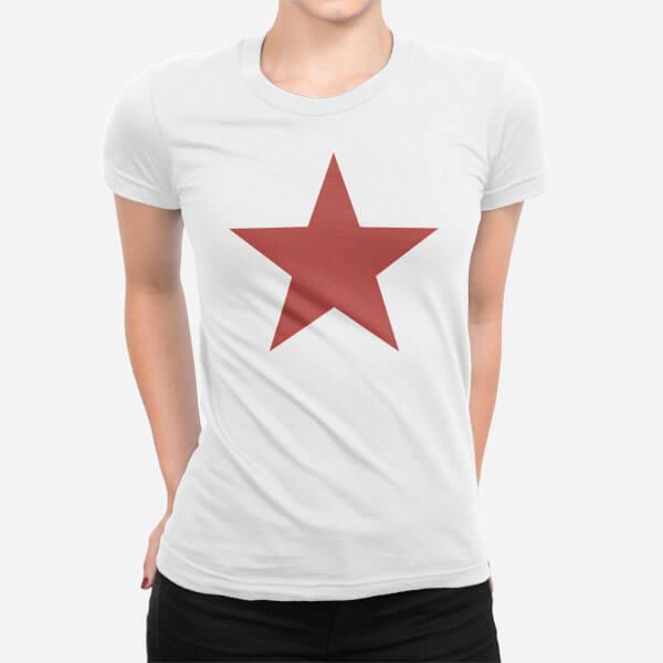 Ženska kratka majica Rdeča zvezda
