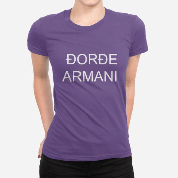 Ženska kratka majica Đorđe Armani