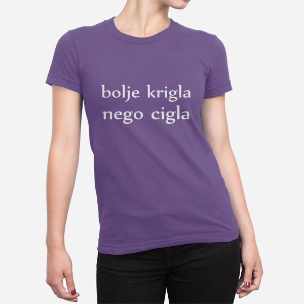 Ženska kratka majica Bolje krigla nego cigla