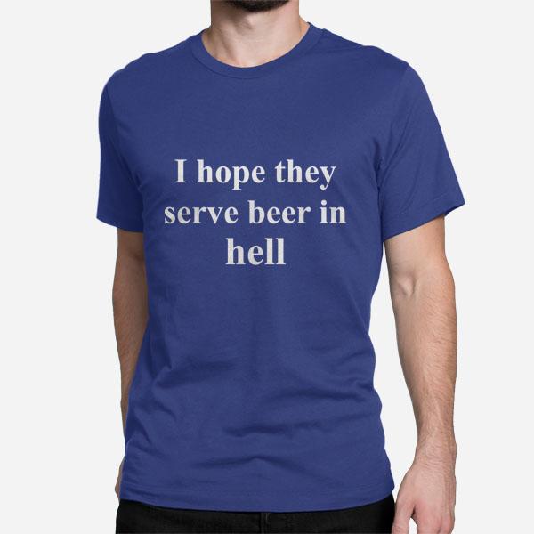 Kratka moška majica Beer in Hell