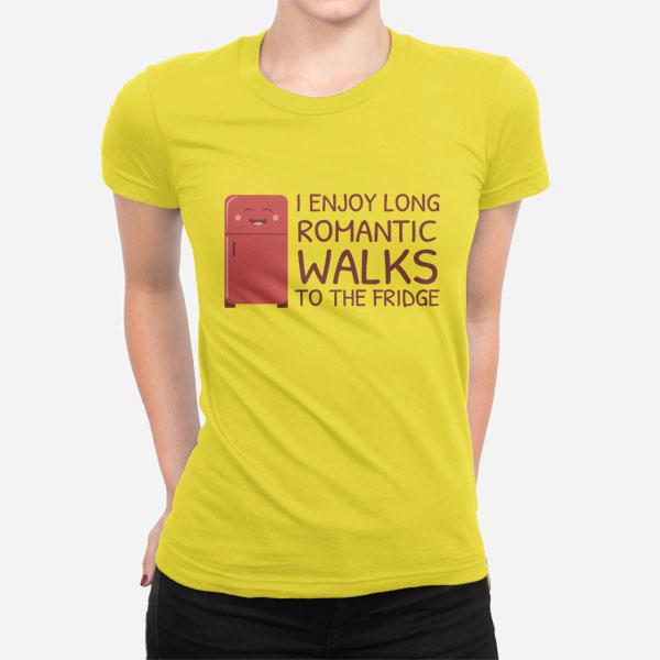 Ženska kratka majica Sprehod do hladilnika