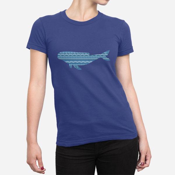 Ženska kratka majica morski kit