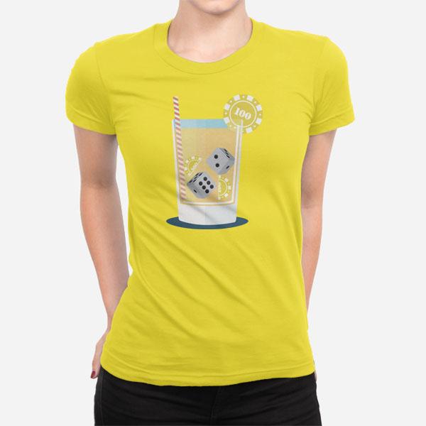 Ženska kratka majica Koktajl kocke