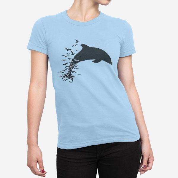 Ženska kratka majica Delfin v skoku