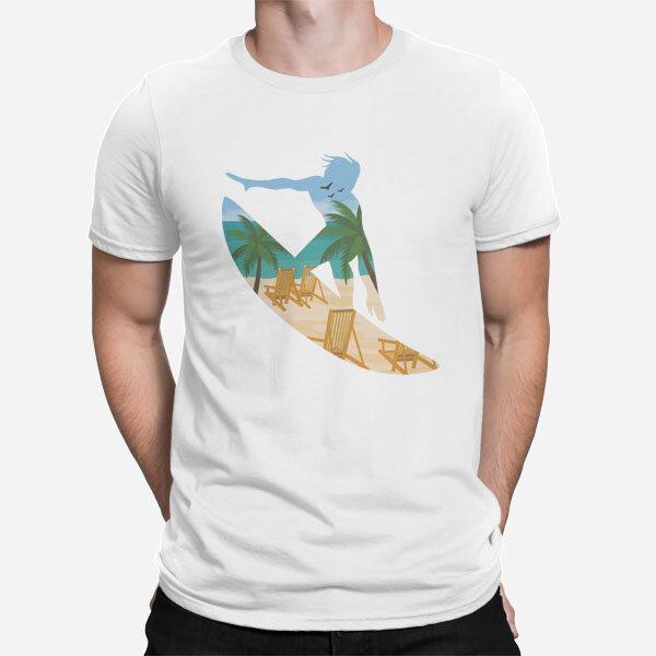 Moška kratka majica Surfanje na plaži
