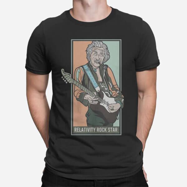 Moška kratka majica Relativna rock zvezda