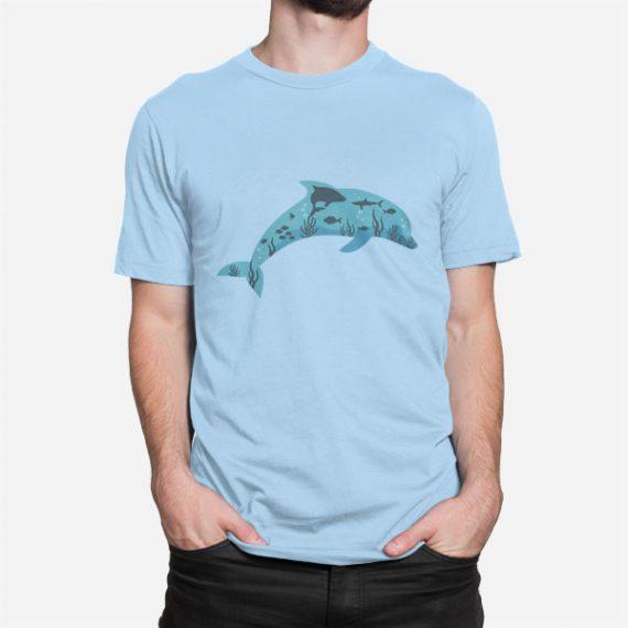 Moška krata majica Delfin v morju
