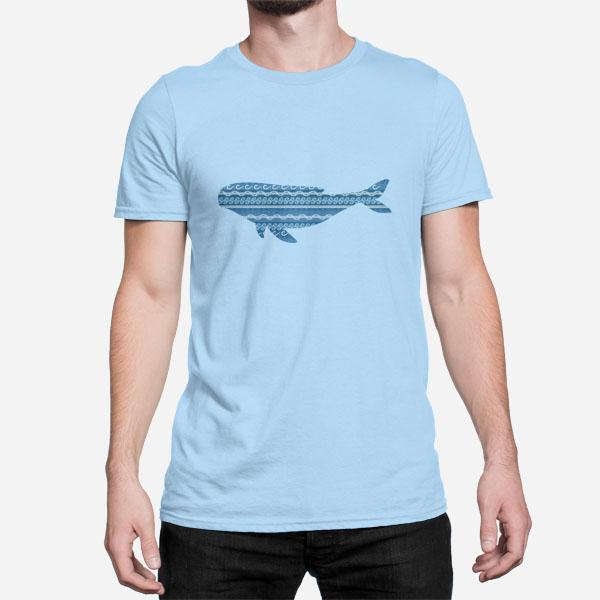 Moška kratka majica morski kit