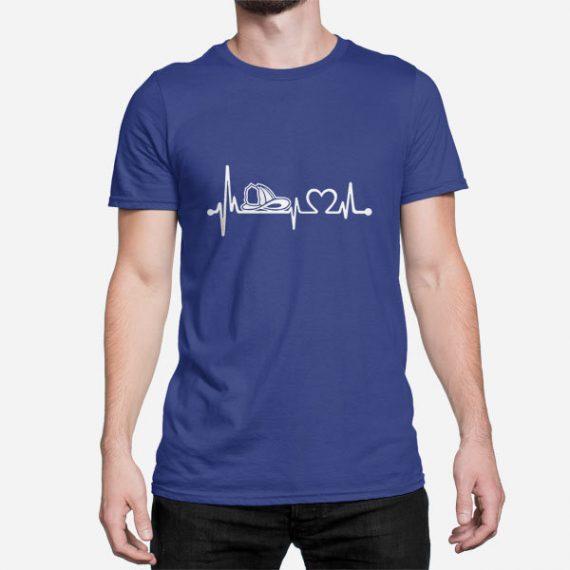 Moška kratka majica Srčni utrip gasilca