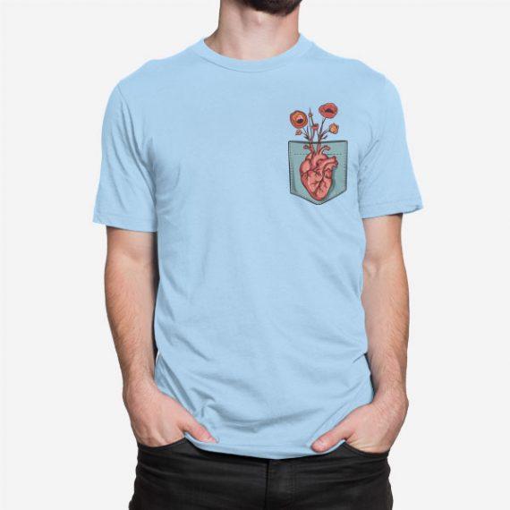 Moška kratka majica Srčni žep
