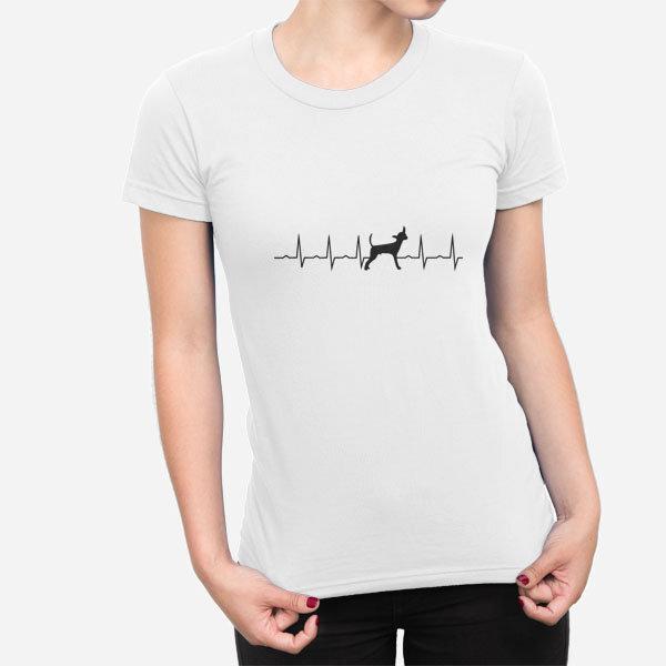 Ženska kratka majica Srčni utrip Čivava