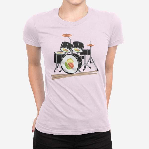 Ženska majica kratek rokav Sushi bobni