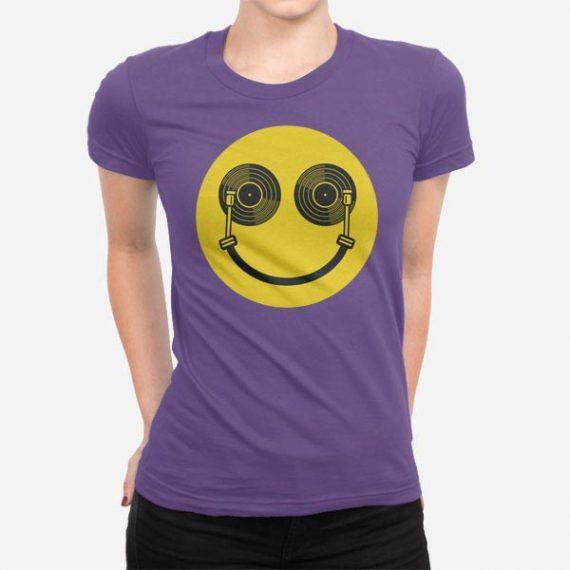 Ženska kratka majica Didžej nasmeh